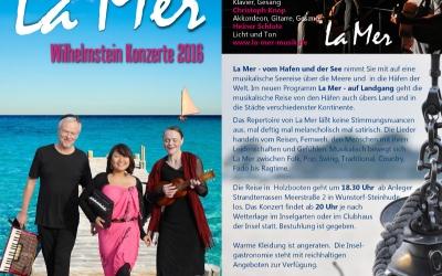 La Mer Wilhelmstein Konzerte 2016