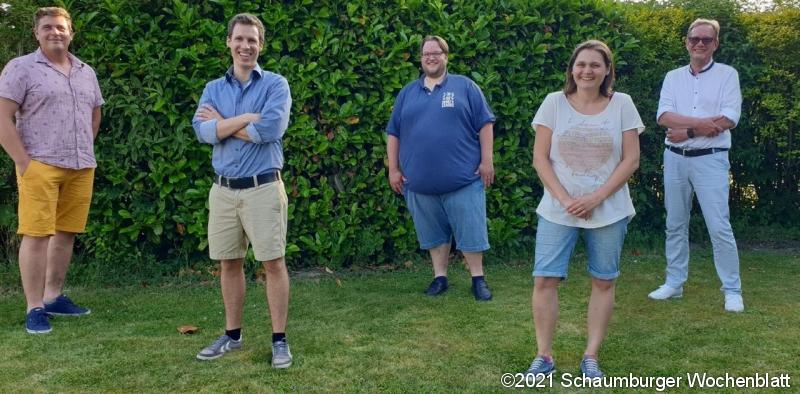 Kandidatinnen und Kandidaten für den Gemeinderat, 2. V. li. Fabian Heine.