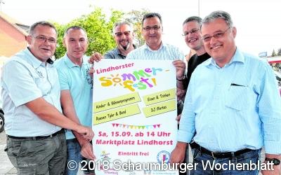 HGV und TuS Jahn Lindhorst laden zum  Sommerfest auf den Marktplatz ein
