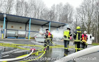 Brennendes Metallpulver sorgt für Gefahr