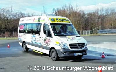 Bürgerbusfahrer absolvieren  Sicherheitstraining mit Erfolg