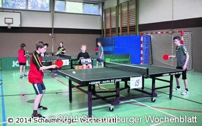 Tischtennisjugend spielt wieder Schaumburgpokal aus