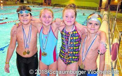 Erfolgreichste Mannschaft beim Mindener Schwimmfest
