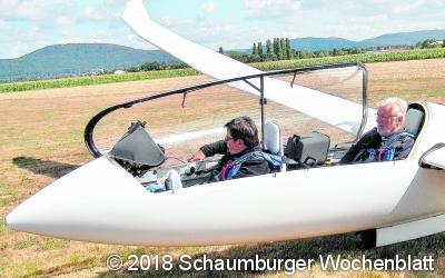 Reinhard Schramme ist der zweitschnellste Segelflieger