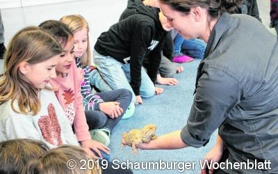 Schüler erleben Artenschutz zum Anfassen