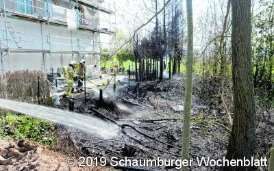 Schnelles Eingreifen verhindert Gebäudebrand