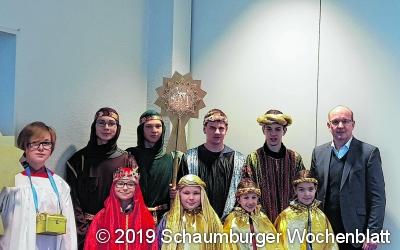 Besuch der Sternsinger im Kreishaus Stadthagen