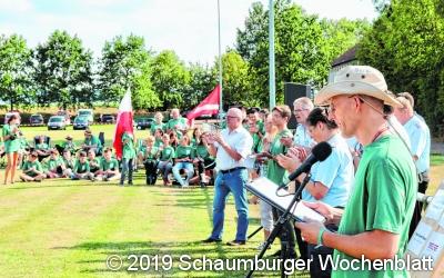 Samtgemeinde-Jugendzeltlager mit 300 zufriedenen Teilnehmern 19 Jugendwehren / Tolles Programm / Wehr aus Gdów fährt 971 Kilometer