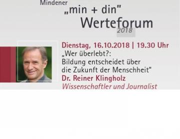 Mindener Werteforum 2 Karten einzulösen ab dem 16. Oktober 2018. Gutschein wird in der Tourist-Information entwertet!