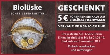 Frischer Fisch Kauf für mindestens Euro 10,- und spar Euro 5,-