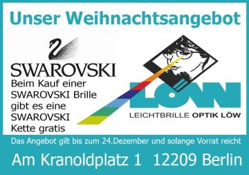 Weihnachtsgeschenk 0% aber eine Swarovski Kette geschenkt beim Kauf einer Swarovski Brille !