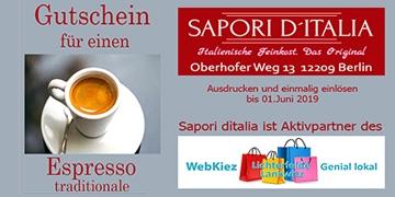 Ostergutschein Espresso traditionale gratis