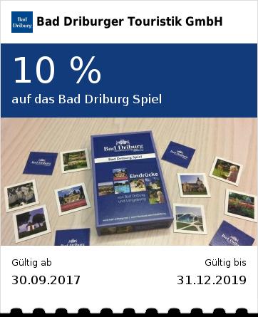 10 % auf das Bad Driburg Spiel