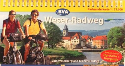 Radwanderkarte Weser-Radweg