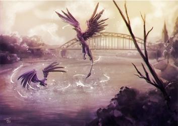 Greifen an der Weserbrücke, Print